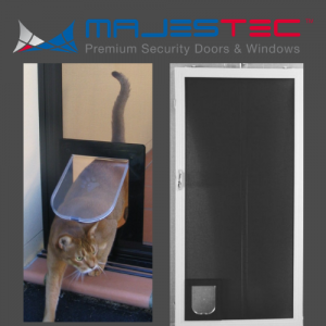 Security Flyscreen Pet Doors - Majestec, Southern California