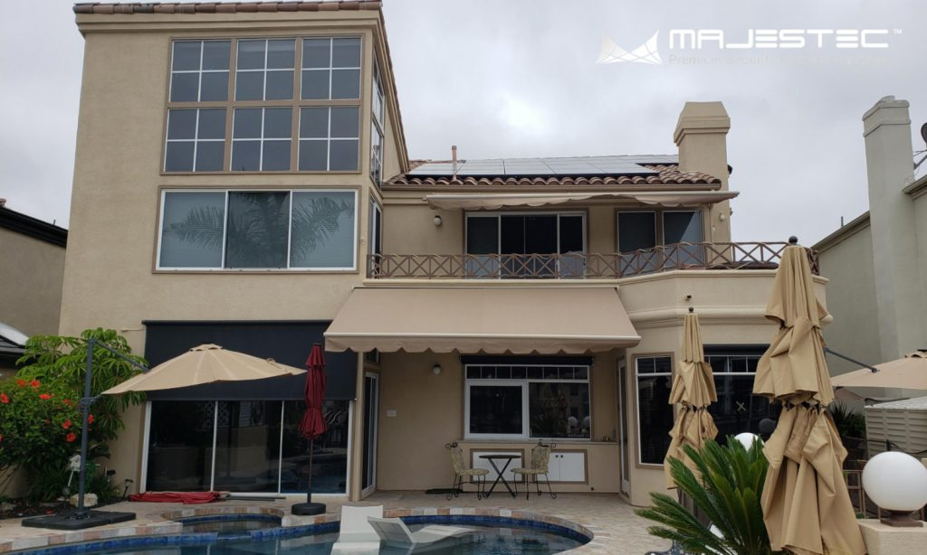 House with home security windows and doors installed - Majestec, SoCal